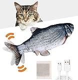 Huarumei Flipity Fish Katzenspielzeug Elektrisch Fisch, Katze Spielsachen Fisch USB...