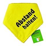 Dimples Hundehalstuch Gelb - Abstand Halten - Bitte Hund Nicht anfassen -Warn...