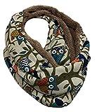 JameStyle26 EULE Flauschig Warmer Winter LOOP Schal Fleece Owl UHU Kautz...