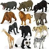 12-teiliges Tierspielzeug Set, Tierfigur, Mini-Dschungeltier Spielzeug Set, Zoo World...