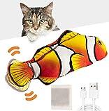 Huarumei Katzenspielzeug Fisch, USB Katzenspielzeug Elektrisch Fisch Katzen...