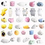 36 Stück Squishies Kawaii Soft Silikon Spielzeug Anti-Stress Squeeze Mini Squishy...