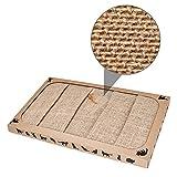 Pieviev Kratzbrett für Katzen (44.5x25.9x3.5cm) Sisal Scratching Pad Katzenspielzeug...