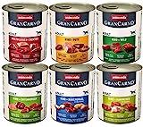 animonda Gran Carno adult Hundefutter, Nassfutter für erwachsene Hunde, Mix 2, 6 x...
