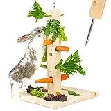 Nagergaleria Futterbaum Kaninchen Meerschweinchen mit Bodenplatte aus Holz und...