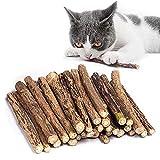 Kito Lee 30 Stück Katzenminze Sticks, Matatabi Katzen Kauhölzer, Matatabi-Kausticks...