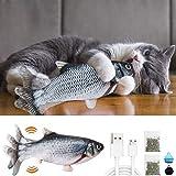 Katzenspielzeug Fisch, Katzenspielzeug Elektrisch mit Katzenminze Interaktives...