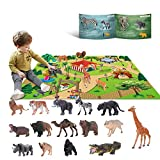 YouCute Tierspielzeug für 3 4 5 6 Jahre alte Kinder Jungle Wild Set Pädagogisches...
