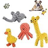 TTMOW Hundespielzeug Seil , Hergestellt aus Natürlicher Baumwolle für Zahnreinigung...