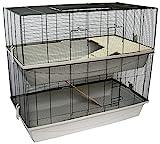 PETGARD Mäuse- und Hamsterkäfig, mehrstöckiges und großes Nagerhaus mit 2 Ebenen...