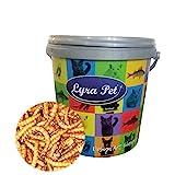 Lyra Pet® 10 L (Liter) Mehlwürmer 10000 ml getrocknet Fische Nager Futter im Design...