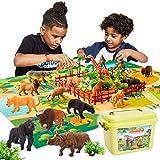 BUYGER 58 Stück Tierfiguren Kinder Tiere Spielzeug ab 3 Jahre, Tierspielzeug...