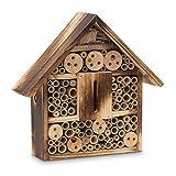 Relaxdays Insektenhotel gebrannt HBT 28,5 x 30 x 9 cm Bienenhotel aus...