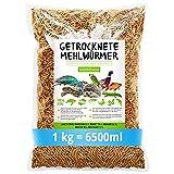 SHF-Natur Mehlwürmer getrocknet • 1kg (entspricht 6,5 Litern!) Futtermittel im...