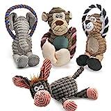 AWOOF Spielzeug für Hunde, Interaktives Plüsch Hundespielzeug, stabiles...