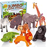 Learning Minds Set von 8 Jumbo Dschungel Tierfiguren - 18 Monate +