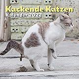 Kackende Katzen Kalender 2022: Lustiges Geschenk für Katzenliebhaber Männer,...