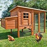 zooprinz große Hühnerstall mit Nistkasten - aus massivem Vollholz und stabilem...