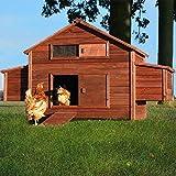 Zooprimus Hühnerstall 20 Geflügelhaus - FREILANDFARM - Stall für Außenbereich...